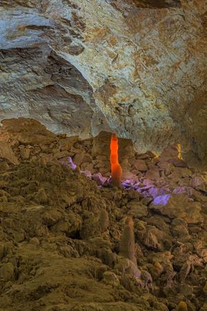 abkhazia: New Athos Cave interior New Athos Abkhazia Georgia Stock Photo