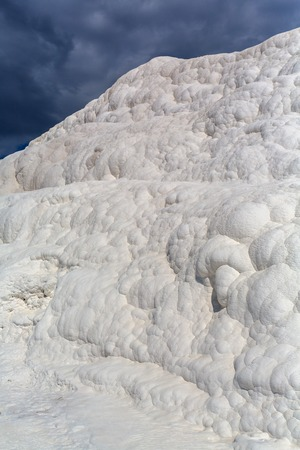 travertine: Travertine terrace mineral Pamukkale Denizli Province Turkey