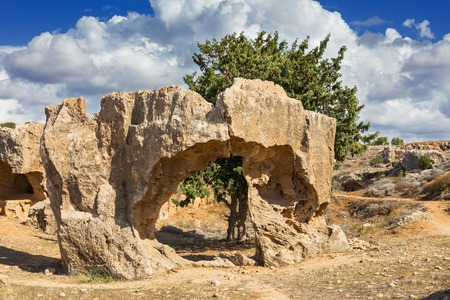 rock formation: Rock formation near Kings Tombs Paphos Cyprus