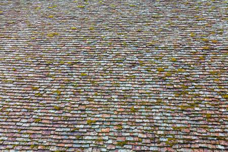 tou: Tiled roof of Panagia tou Arakou church Lagoudhera Troodos mountains Cyprus