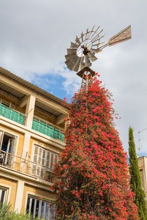 wind vane: Wind vane street in old town Nicosia Cyprus Stock Photo