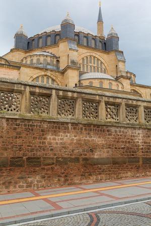 edirne: Selimiye Mosque dome Edirne Edirne Province Turkey Stock Photo