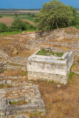 troy: Ruins of ancient Troy, Canakkale Province, Turkey