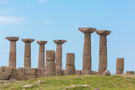 doric: Doric temple of Athena Assos Canakkale Province Turkey