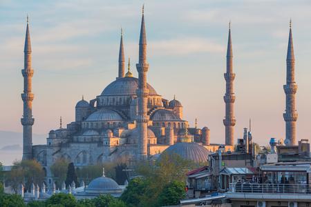 camii: ISTANBUL, TURKEY - APRIL 27, 2015: The Blue Mosque Sultan Ahmet Camii Sultanahmet Editorial