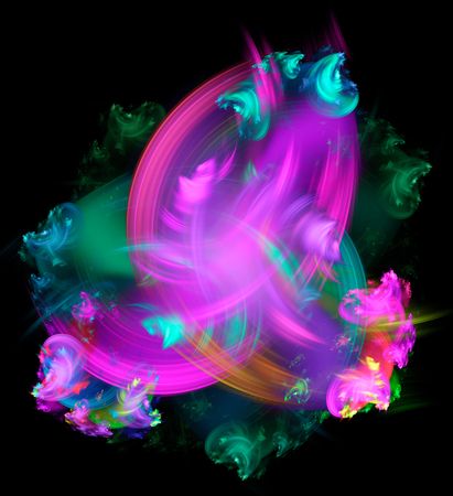 fractal flame: Abstract fractal illustration for modern creative design Stock Photo