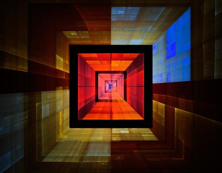 Abstract fractal illustration for modern creative design Standard-Bild