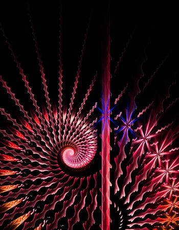 logarithmic: Abstract fractal illustration for modern creative design Stock Photo