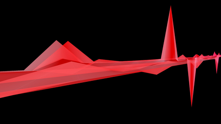 dimentional: 3D illustration of surface dimentional graph of mathematical function
