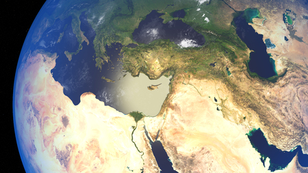 water's: 3D illustration of planet Earth with continents and blue ocean waters. Elements of this image furnished by NASA