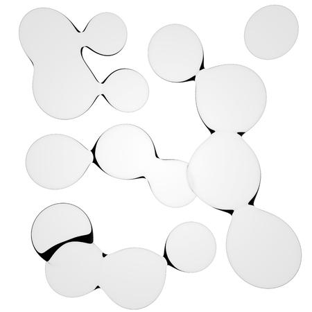 nucleus: 3D illustration of liquid drops look like nucleus Stock Photo