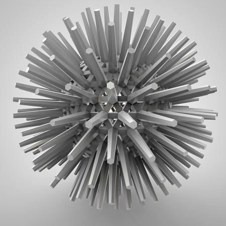 estrellas cinco puntas: Ilustración 3D del objeto tridimensional como la estrella tecno poliedro