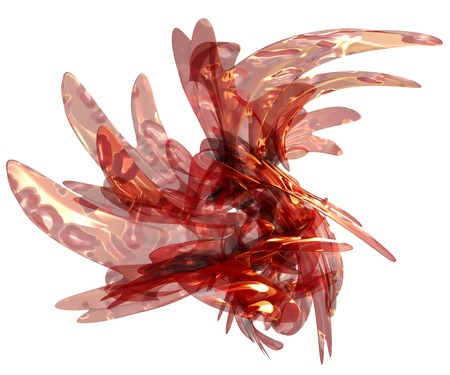 surge: 3D illustration of abstract splash object on white background
