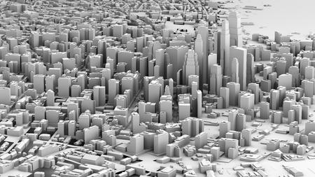 architecture: 3D illustration of futuristic modern city architecture