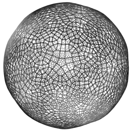 globe grid: 3D illustration of network grid information globe Stock Photo