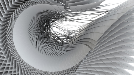 3D illustration of three-dimensional matrix  structure wrap