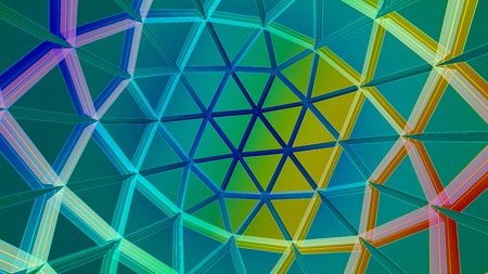 linkage: 3D illustration of network grid colored sphere Stock Photo