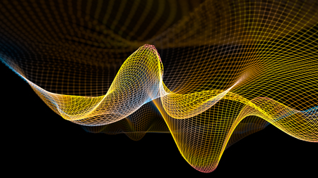 Abstract wave structure scientific background