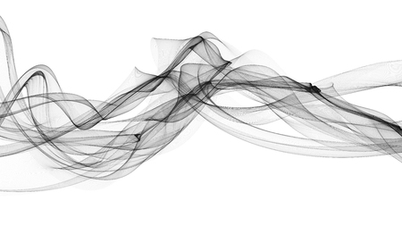 Black 3D-gerenderde golven eruit rook