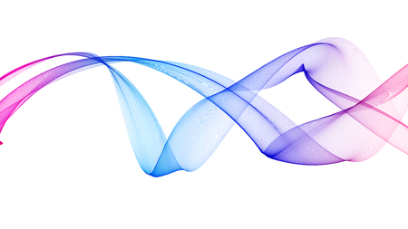 Kleurrijke 3d gesmolten golven lijken op rook op een witte achtergrond