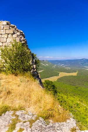 View on medieval fortress Mangup Kale