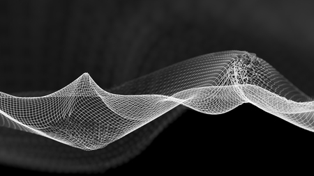 blackwhite: Abstract wave structure scientific background