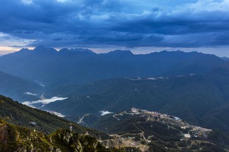 Scenery mountain summer view on Rosa Khutor ski resort