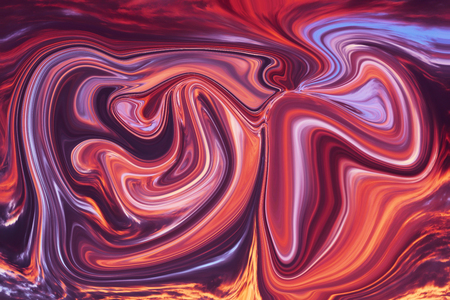 Colorful psychedelic liquefied background