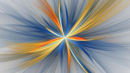 カラフルな抽象的なフラクタル図