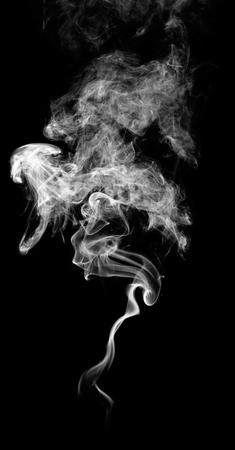 translucent: White fantasy smoke on black background