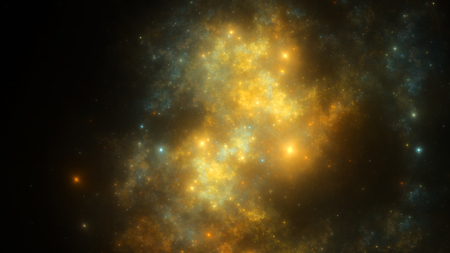 galaxies: Abstract fractal illustration looks like galaxies Stock Photo