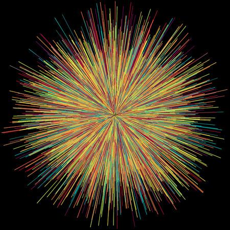 Abstract explosion burst of fireworks light