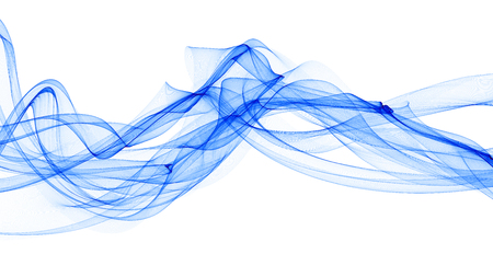 3D illustration of colorful waves look like smoke