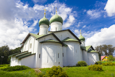 View on old orthodox church building Stock Photo