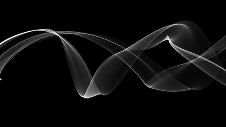 voile: 3d illustration of White waves look like smoke Stock Photo