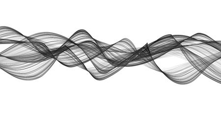 3D-afbeelding van zwarte golven eruit rook