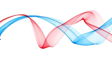 Kleurrijke 3D-gerenderde golven eruit rook