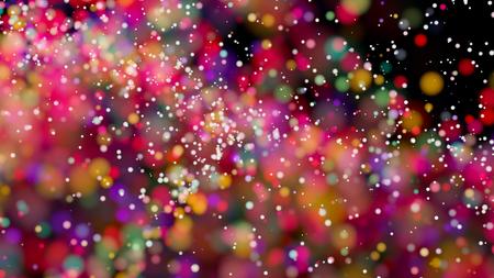 Beautiful colorful bokeh blurred background defocused lights Standard-Bild