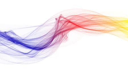 transmit: 3d illustration of Colorful waves look like smoke