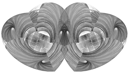Monochrome abstract fractal illustration for creative design Stock Photo