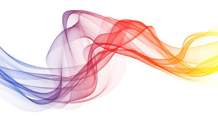 3D-afbeelding van kleurrijke golven eruit rook