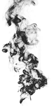 translucent: Black fantasy smoke on white background Stock Photo