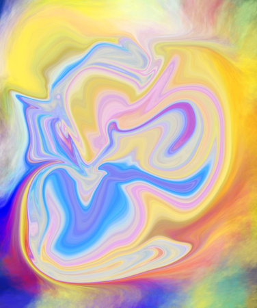 abstract paintings: Colorful psychedelic liquefied background