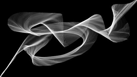 3D illustratie van witte golven eruit rook