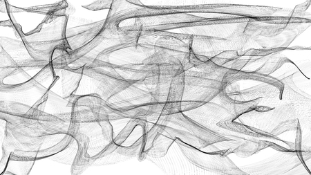 voile: 3d illustration of transparent veil white
