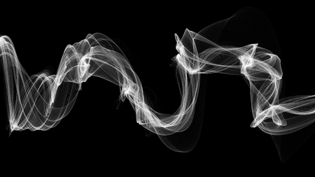 3D-afbeelding van witte golven eruit rook