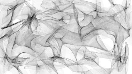 voile: 3d illustration of transparent veil black Stock Photo