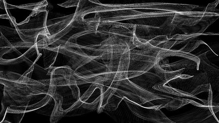 3d illustratie van transparante sluier wit