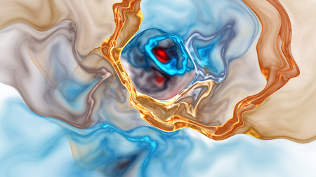 liquefy: Colorful abstract fractal illustration for creative design
