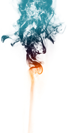 colors paint: Colorful fantasy smoke on white background